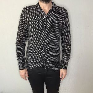 ALL SAINTS fitted print shirt